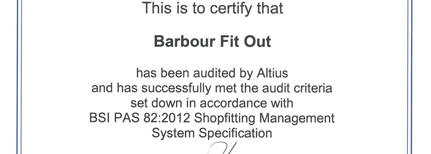 190328 Barbour Fit Out Pas 82 Certificate 27 3 20